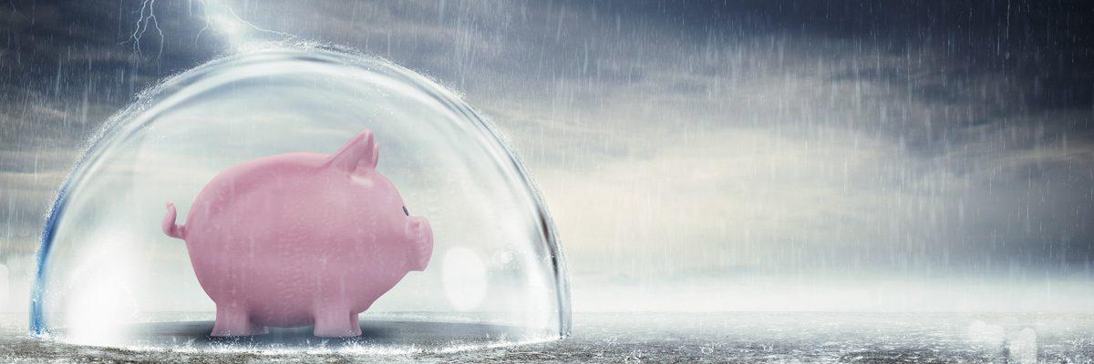Piggy Bank Under Dome